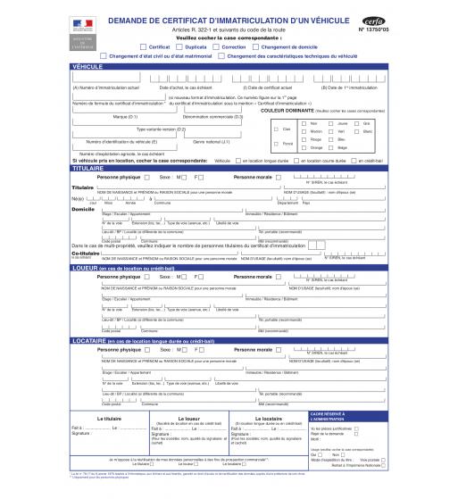 Immatriculation occasion - Immatriculation chambre de commerce ...