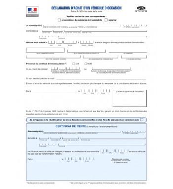 DÉCLARATION D'ACHAT (PRO)